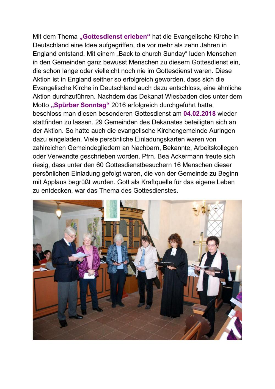 2018-02-04 spürbar gottesdienst