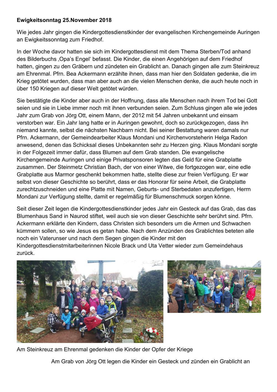 2018-11-25 friedhofsbesuch der kigokinder